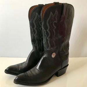 💜⭐️Lucchese Black Cowboy Boots 9 B💜